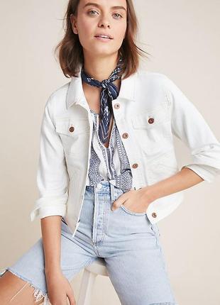 Куртка джинсовая белая