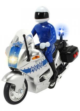 Игрушечный мотоцикл Dickie toys Полицейский патруль с фигуркой...