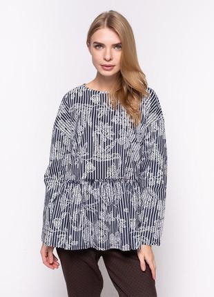 Блузка с оборкой oversize