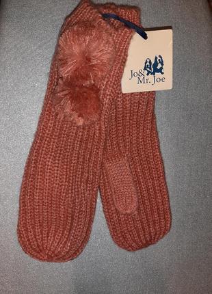 Стильные рукавички-варежки jo&mr.joe(испания)
