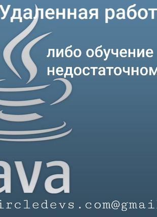 Удаленно работа для программиста Java Spring SQL