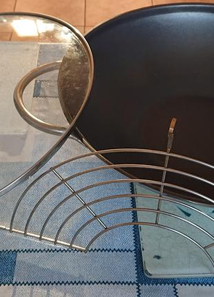 Сковорода Вог с антипригарным покрытием и крышкой 34см