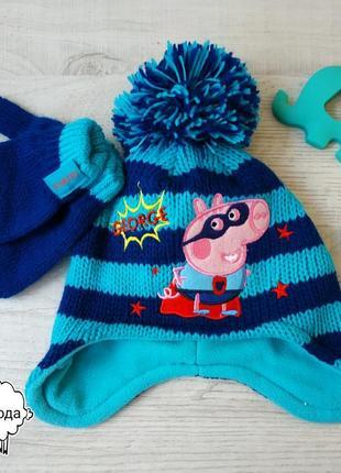 Набор шапка и варежки george 1-3 года