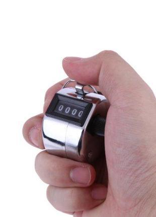 Ручной 4-разрядный счетчик, 0000-9999, металлический