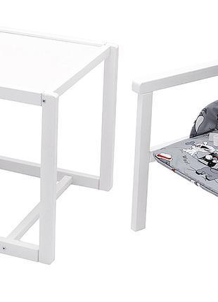 Стульчик- трансформер Babyroom Пони-240 белый пластиковая стол...