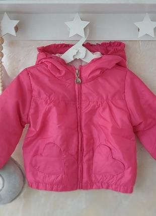 Демисезонная курточка 9-12 мес куртка для девочки ovs 12-18 мес