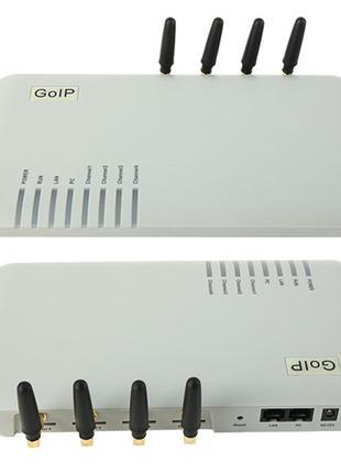 VoIP GSM шлюз GoIP 4 канала SIP H.323