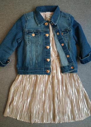 Джинсовая курточка h&m курточка для девочки 3-4 года пиджак