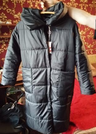 Зимняя длинная куртка пальто