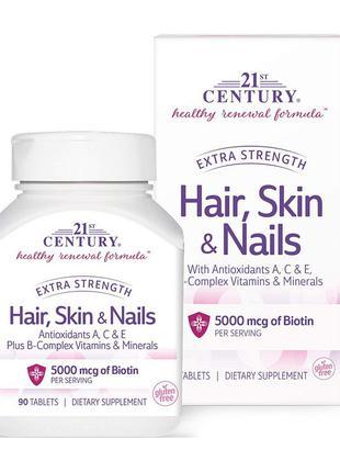 Витаминный комплекс для кожи, волос, ногтей 21st Century Hair,...
