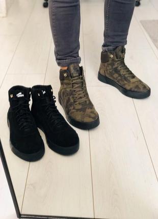 Lux обувь! натуральные кожаные зимние мужские ботинки