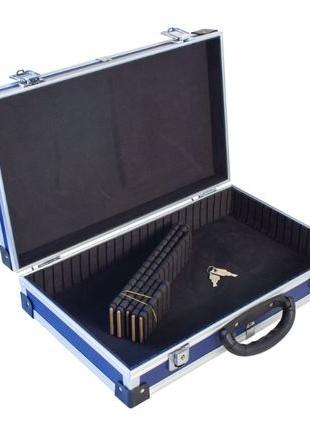 Ящик-кейс алюминиевый для инструмента, с перегородками (395*24...