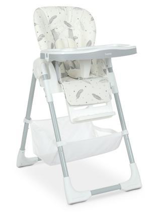 Стульчик M 4507 Fluffy White для кормления, столик выдвижной, ...