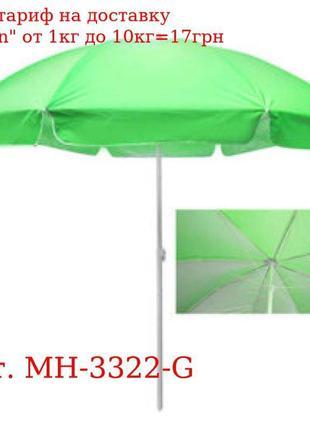 Зонт пляжный d2, 5м спицы карбон, серебро MH-№3322-G