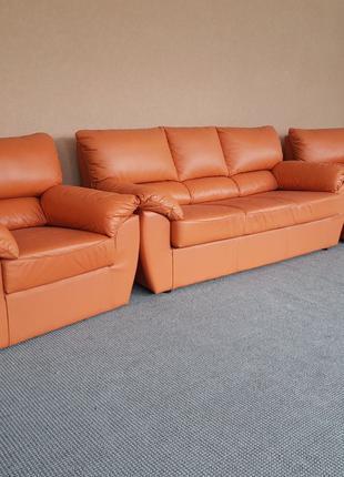 Шкіряний диван кожаный диван мягкая мебель кожаный комплект