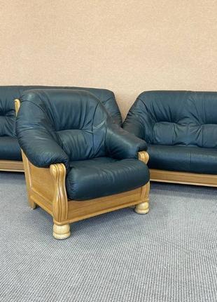 Кожаный диван кожаный комплект шкіряний диван шкіряний гарнітур