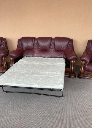 Шкіряний комплект кожаный диван мягкая мебель мякі меблі