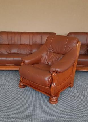 Кожаный комплект кожаный гарнитур кожаное кресло шкіряні крісла