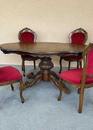 Стол со стульями стіл та стільці гарнитур комплект столовий га...