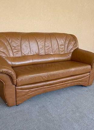 Шкіряний розкладний диван кожаный диван кожаная мебель