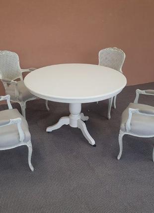Стол и стулья стіл та 4 стільці меблі для вітальні