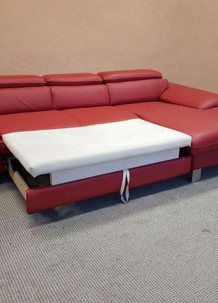 Шкіряний кутовий диван кожаный диван кожаный раскладной диван