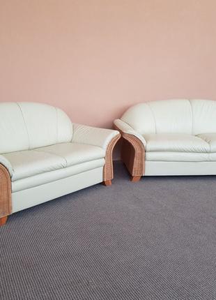Бесплатная Доставка! Кожаний диван шкіряний диван кожаный гарн...