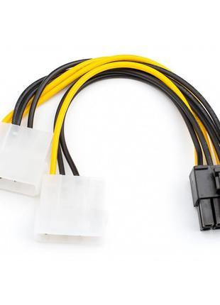 Кабель power Video (8pin) - 2*Molex (4pin) 15см ATCOM для подк...