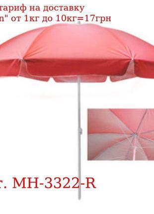 Зонт пляжный d2.5м спицы карбон, серебро MH-3322-R (10шт)
