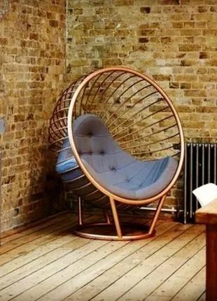Кресло круглое из металла в стиле лофт loft