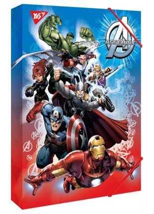 Папка для праці А4 картонна Marvel, Yes