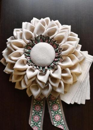 Декор на стену и салфетки на стол из белой мешковины. декор на...