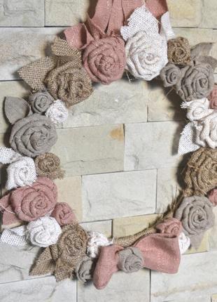 Настенный декор для гостиной из цветной мешковины