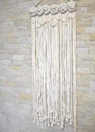 Настенный декор из хлопчатобумажного каната