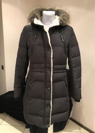Пуховик. пуховое пальто ralph lauren. размер xs