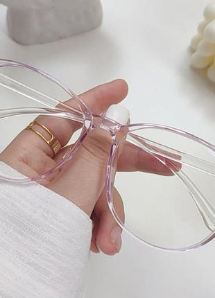 Компьютерные очки женские, защита глаз от монитора. Цвет розов...