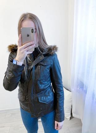 Кожаная куртка roal