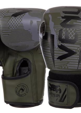 Рукавиці боксерські VENUM BO-2533 6-14 унцій чорний-зелений