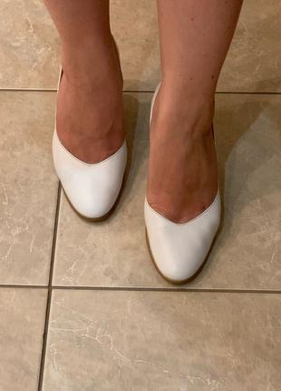 белые/свадебные туфли кожа 37р