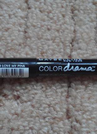 Помада олівець від maybelline new york color drama