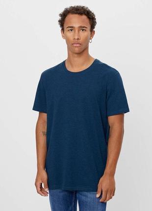 Bershka новая мужская летняя базовая футболка