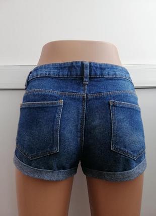 Шорты женские синие джинсовые