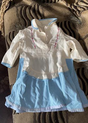 Шерстяное натуральное детское платье длина 53см ссср с вышивкой