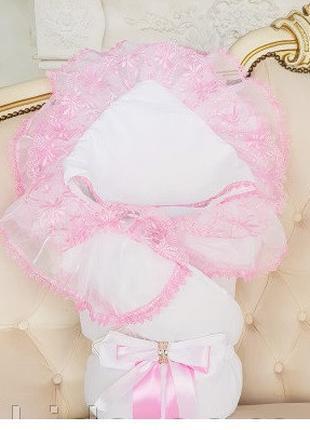 """Зимний роскошный конверт-одеяло """"Волшебство"""" для новорожденной..."""