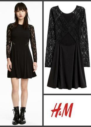 Шикарное кружевное платье мереживна сукня от h&m