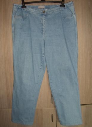 джинсы женские стрейчевые большой размер EUR-48 пояс 102-120см