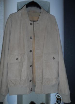 Walbusch ,стильная легкая куртка ,натур.замш.48р-50р,новая.