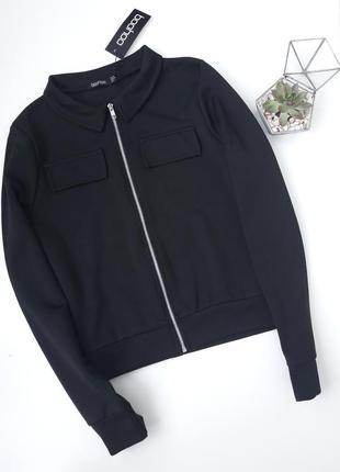 Черный бомбер куртка ветровка