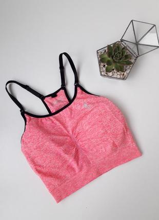 Розовый спортивный топ для фитнеса тренировок