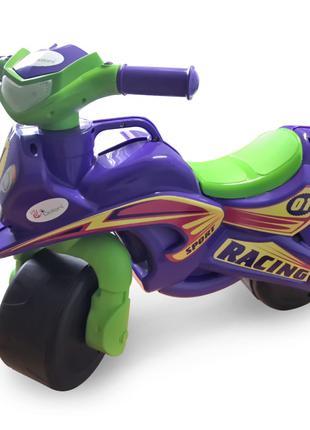 Толокар мотоцикл Doloni 0139/1/6 музыкальный (фиолетовый)